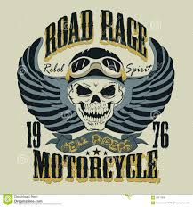 motorcycle t shirt design vector illustration stock vector image