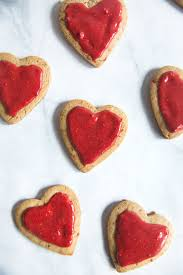 whole wheat coconut oil sugar cookies with natural strawberry