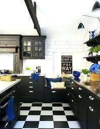 deco cuisine noir cuisine noir et blanc bois decoration blanche lolabanet com