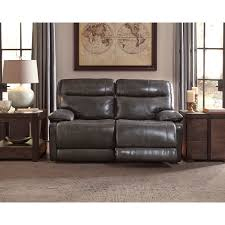 Grey Leather Sofa And Loveseat Furniture Magician Gray Leather Reclining Sofa