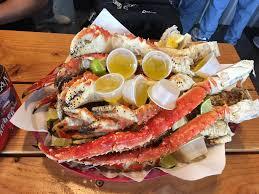 i ate a huge pile of alaskan king crab legs food
