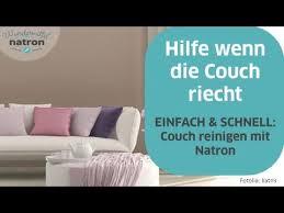 stoff sofa reinigen reinigen mit natron