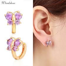 baby girl earrings 5 colors baby small circles huggies hoop earrings gold