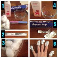 how to get off gel nail polish with non acetone remover step 1