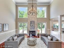 Transitional Living Room by Living Room With Chandelier U0026 Hardwood Floors In Vienna Va