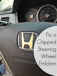 vintage honda logo fixing a chipped steering wheel emblem make do and mend frugal