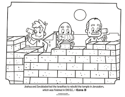 israelites rebuild jerusalem coloring page whats in the bible
