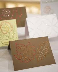 glittered fall cards martha stewart