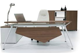 Metal Office Desk Executive Desk Wooden Metal Contemporary Neptun Solenne