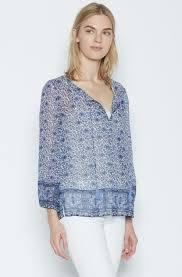 womens silk blouses lyst joie auberon silk blouse in blue