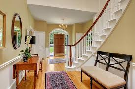 modern colonial foyer curved staircase google search foyer