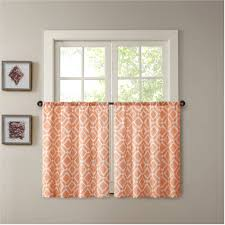 winsome appealing red orange mint green curtains and charming brown wall paint