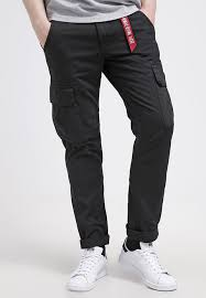alpha industries black friday alpha industries agent cargo trousers black zalando co uk