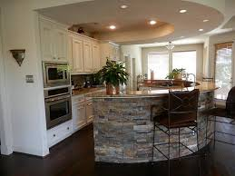 Kitchen Stone Backsplash Ideas Magnificent Curved Stone Kitchen Island Plus Marble Countertop On