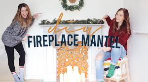 diy faux fireplace u0026 mantel the sorry girls youtube