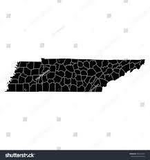 Counties In Tennessee Map by High Detailed Vector Map Counties Tennessee Stock Vector 564215356