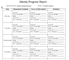 student report template excel to analyze the progress of a