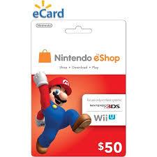 eshop gift cards nintendo eshop 50 email delivery walmart