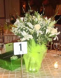white flower centerpieces snow white flower table centerpiece