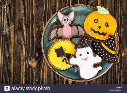 gingerbread for halloween funny holiday food for children stock