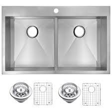 mr direct kitchen sinks reviews mr direct all in one drop in stainless steel 33 in 4 hole double