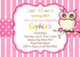 pink owl birthday party invitations bday ideas 2nd