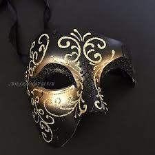 men masquerade mask black gold phantom of the opera half men masquerade mask