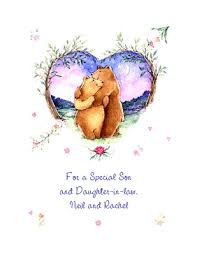 Wedding Greeting Card Verses Special Son U0026 Daughter In Law Greeting Card Anniversary