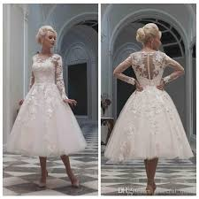 50 s style wedding dresses discount wedding dress sleeves lace appliques v neck