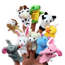 Favor Toys by 10pcs Set Animal Finger Puppet Baby Plush Toys For