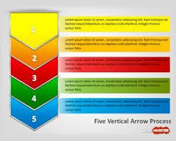 Process Map Template Excel Free Five Vertical Arrows Process Diagram For Powerpoint Is A