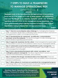 Challenge Risks 7 Steps To Build A Framework To Manage Operational Risk Enablon