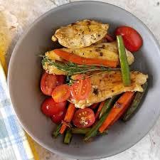Chicken Main Dish - balsamic chicken u0026 vegetables one pan chicken and veggies recipe