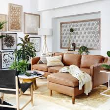 Leather Sofa With Chaise Lounge by Best 10 Brown Sectional Ideas On Pinterest Brown Family Rooms