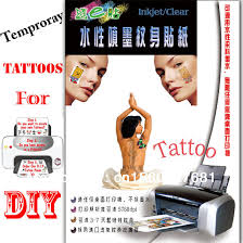 tattoo decal paper buy inkjet temporary tattoos transfer paper water slide decal paper on
