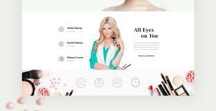 Website For Makeup Artist Makeup Artist Website Template