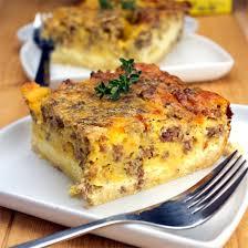 egg strata casserole overnight egg sausage bake recipe mrbreakfast com