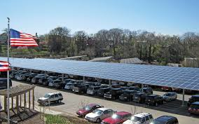 solar panel parking lot lights commercial project gallery