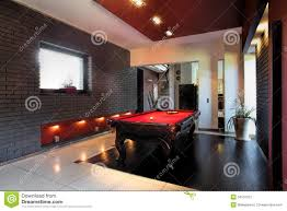 contemporary interior with a snooker table stock image image