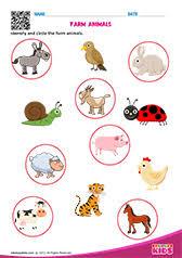 science farm animals worksheets kindergarten