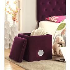 Purple Storage Ottoman Purple Storage Ottoman Bonners Furniture