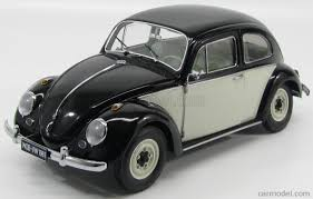 black volkswagen bug sun star 05207 scale 1 12 volkswagen beetle saloon 1961 black white