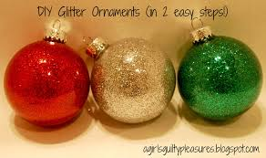 a s guilty pleasures diy glitter ornaments