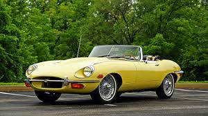 vintage convertible photo jaguar 1968 e type convertible retro yellow cars