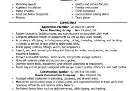Pipefitter Resume Example by Sample Plumbing Resume Examples Reentrycorps