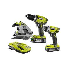 Home Depot Deal Of The Day by Ryobi 18 Volt One Lithium Ion Cordless Combo Kit 3 Tool P1874