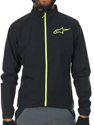 lightweight mtb jacket alpinestars black acid yellow 2017 descender 2 mtb jacket ebay