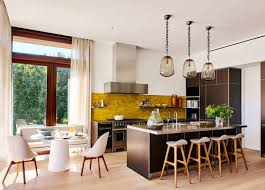 cuisine moderne jaune modèle de cuisine moderne 34 intérieurs qui nous inspirent