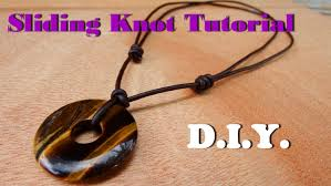 leather necklace knot images How to make a sliding knot necklace leather cord with donut tiger jpg