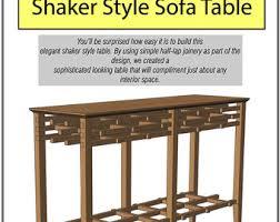 shaker sofa table shaker furniture etsy